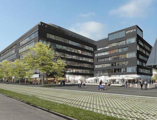 Keramisches Rundmosaik im 25hours Hotel Zürich WestEdle Farbkompositionen von Jasba unterstützen Designkonzept
