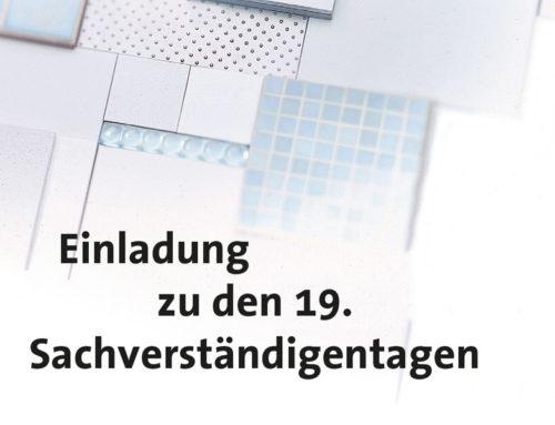19. Sachverständigentage des Deutschen Fliesengewerbes07. und 08. November 2017