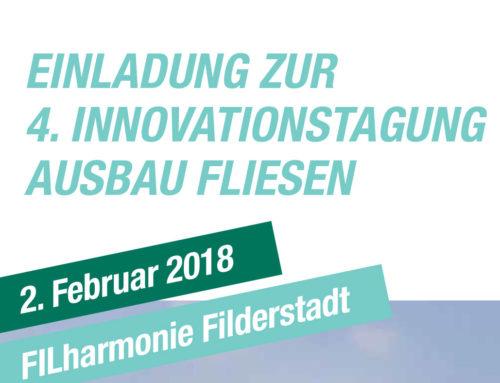 Innovationstagung Ausbau Fliesen2. Februar 2018