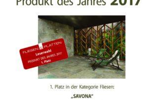 Ausgezeichnet: Fliesenserie Savona von Agrob Buchtal