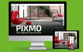 Screenshot Pixmo Raumstudio