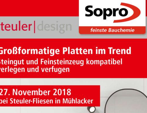 Großformatige Platten im Trend – Steingut und Feinsteinzeug kompatibel verlegen und verfugen27. November 2018