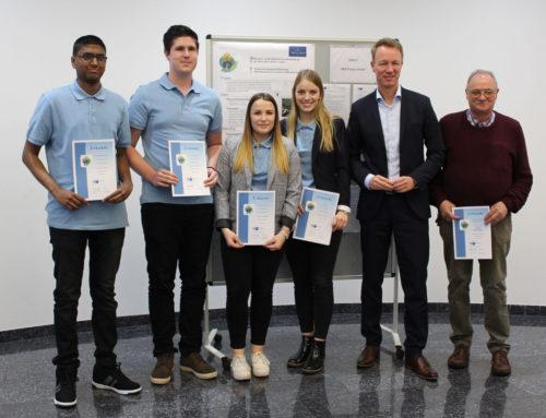 Energie-Scouts-Kampagne des Deutschen Industrie- und Handelskammertages (DIHK)Auszubildende der V&B Fliesen GmbH belegen erneut den 2. Platz