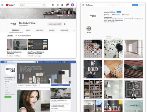 Qualitätsinitiative Deutsche Fliese verstärkt Engagement pro Fliese im Social-Media-BereichWerden Sie Teil unserer Community!