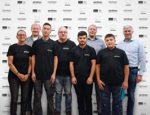 Berufsausbildung in der FliesenindustrieVier Azubis starten ihre berufliche Karriere in der Ströher Gruppe