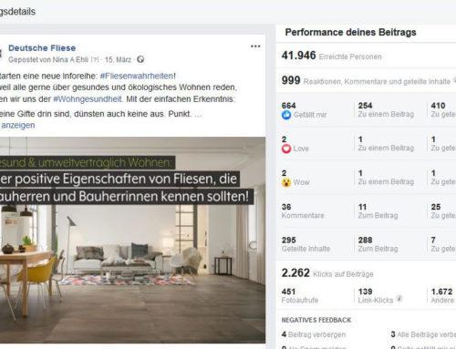 Deutsche Fliese wächst dynamisch auf FacebookFanpage der Qualitätsinitiative entwickelte sich 2019 zur größten deutschsprachigen Fliesen-Community auf Facebook